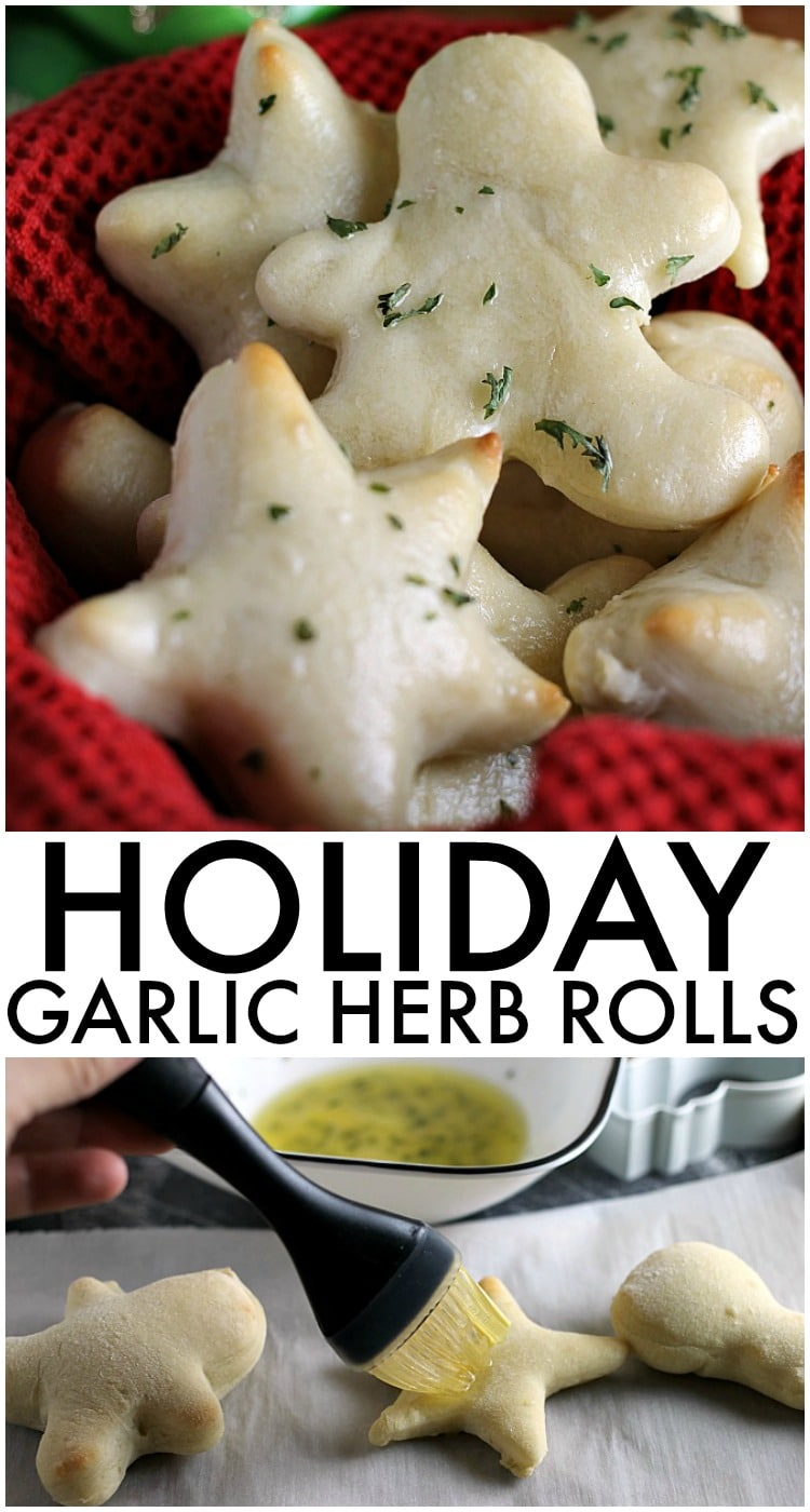 Holiday Garlic Herb Rolls | www.persnicketyplates.com