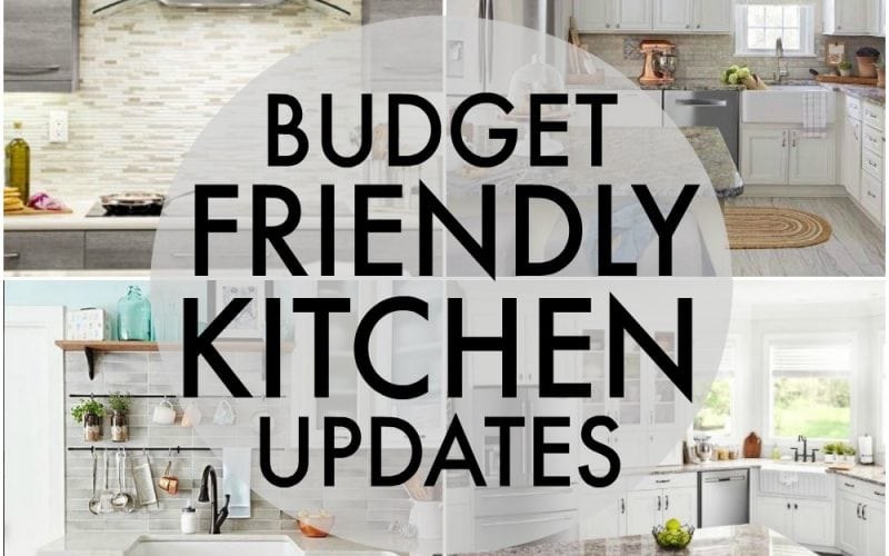 Updating your kitchen is totally possible without going broke. Here are Five Budget Friendly Kitchen Updates that will make a huge difference in your house while being affordable and without leaving you with a giant renovation. | www.persnicketyplates.com AD