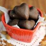 Dark Chocolate Toasted Almond and Coconut Hearts
