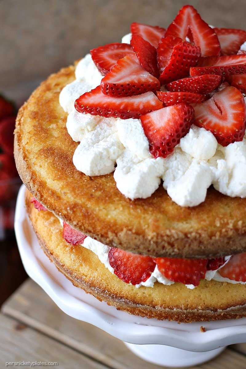 Cream Cheese Biscuit Layer Cake