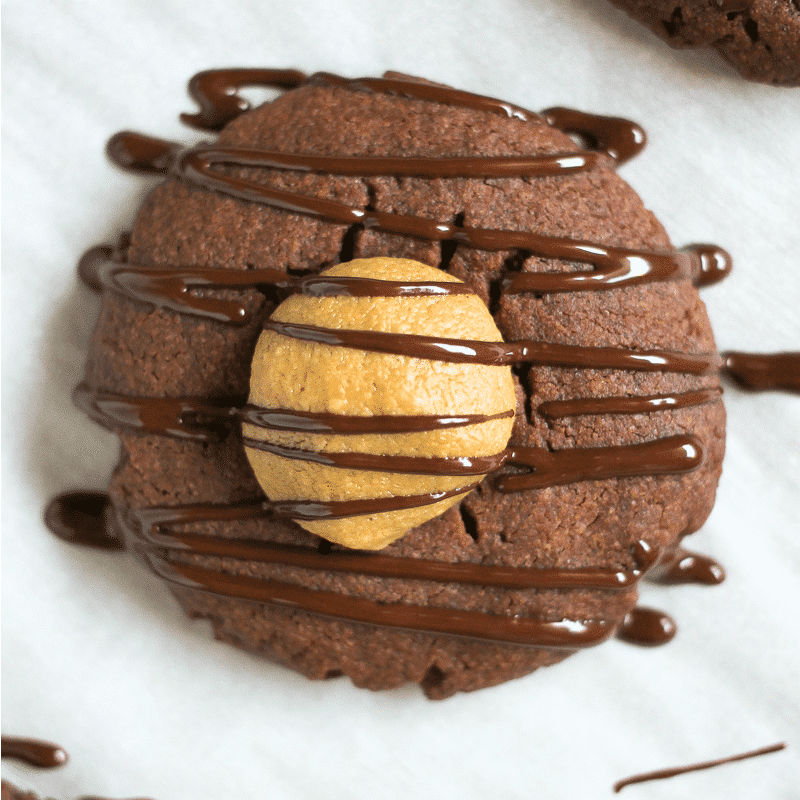 Chocolate Peanut Butter Buckeye Cookies