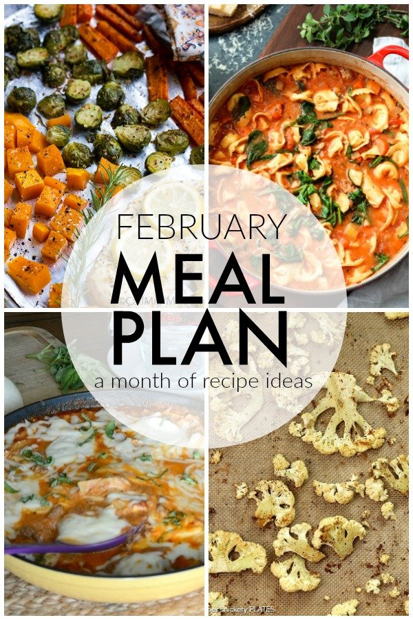 February is a short month and life is hectic enough without scrambling to figure out what you're going to eat each night. I'm sharing a month worth of recipes to make your February Meal Plan for feeding your family a breeze! | www.persnicketyplates.com #mealplanning #mealplan #menuplanning #familyrecipes