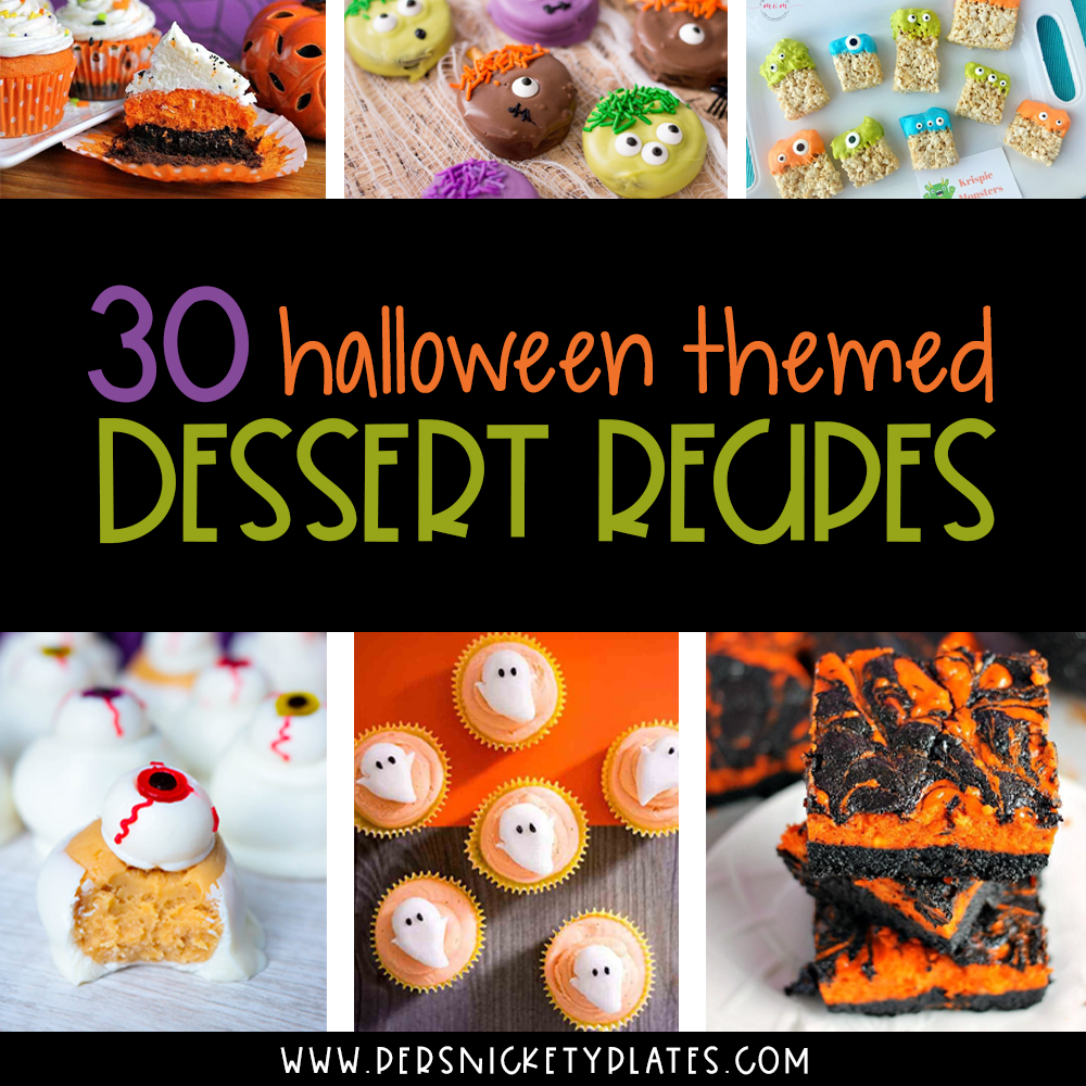 collage of easy Halloween desserts