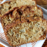 closeup of apple cinnamon swirl bread slice