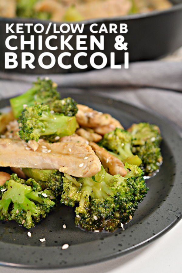 plated keto chicken and broccoli