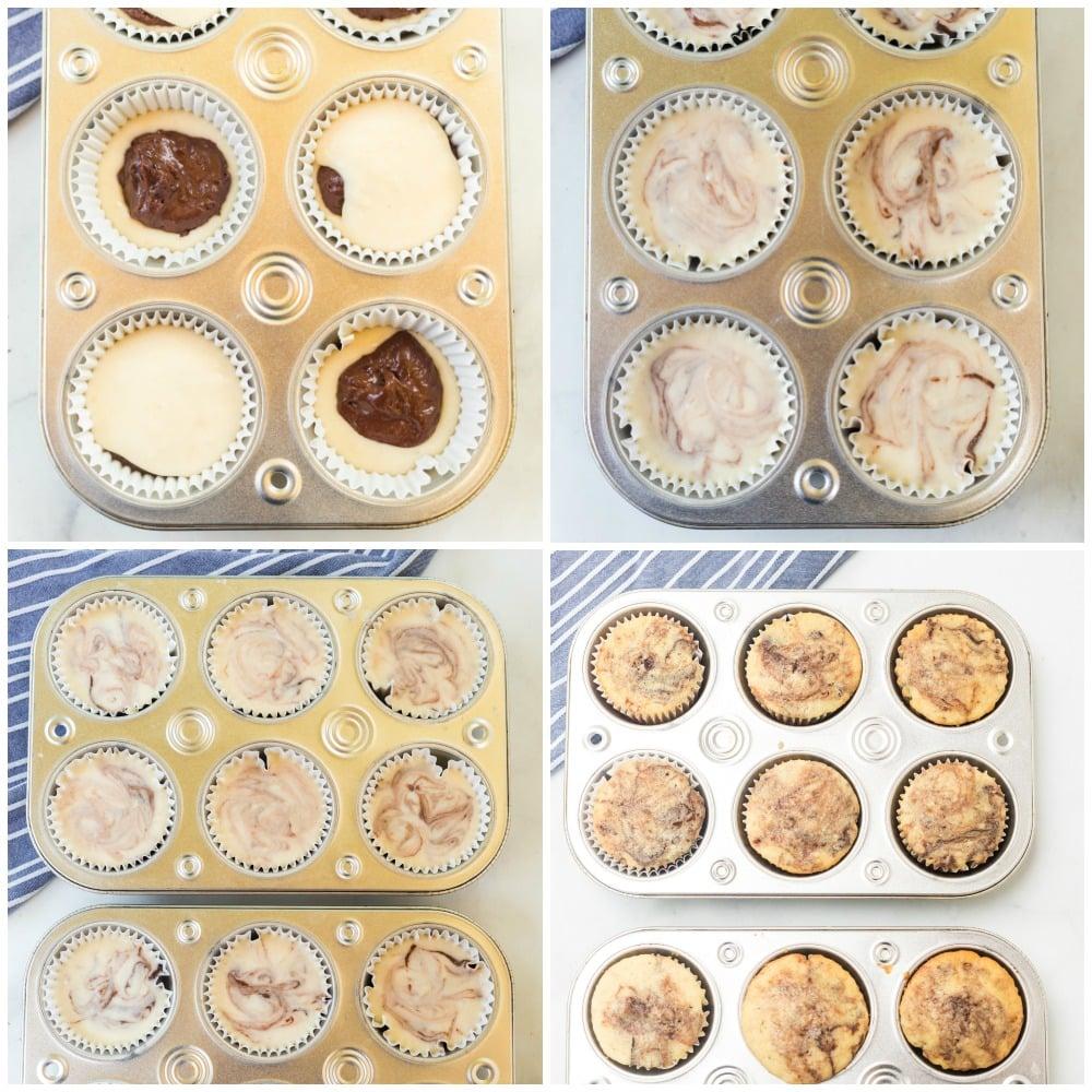 cupcake batter in muffin tins