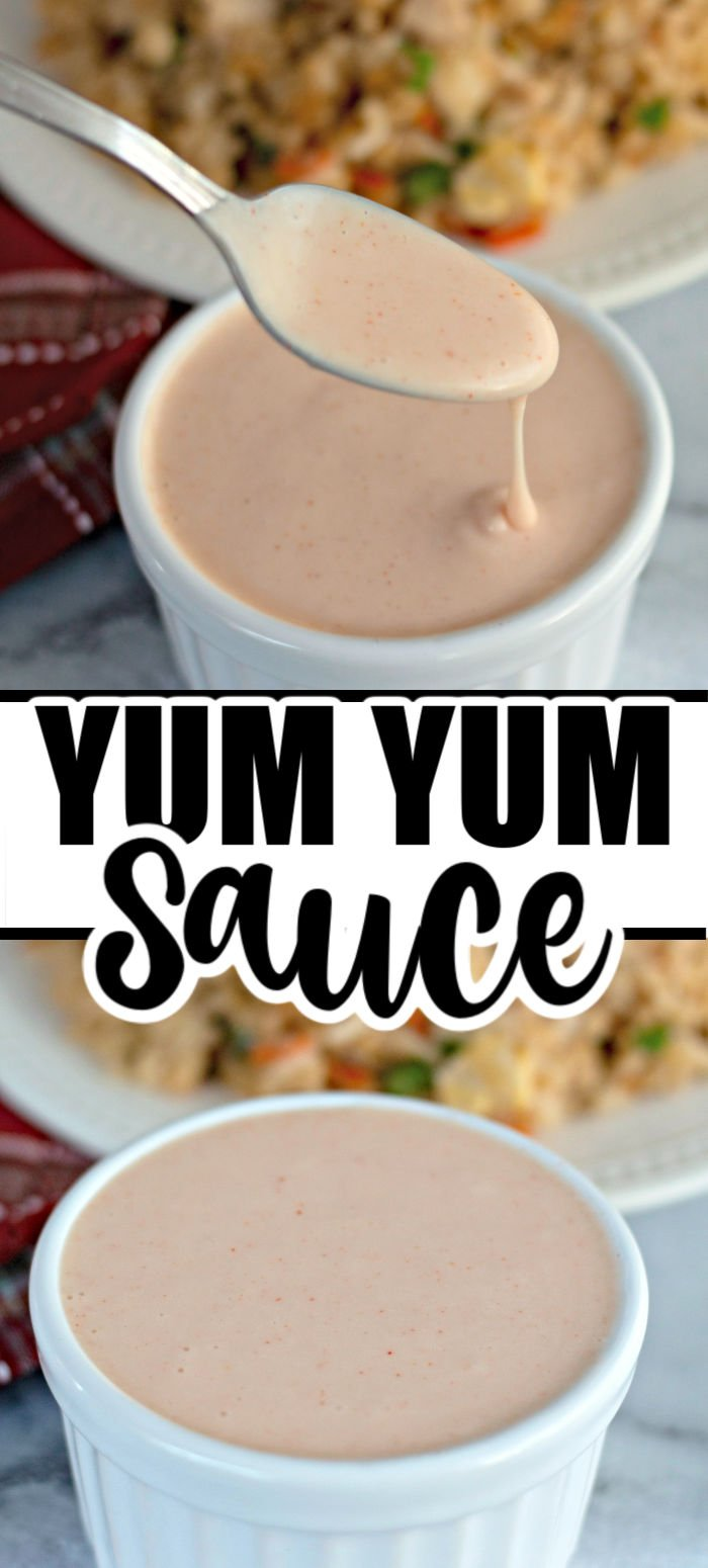Yum Yum Sauce is the pale pink sauce that you have probably enjoyed at your local hibachi restaurant. This flavorful sauce pairs perfectly with seafood, chicken, veggies, and fried rice. | www.persnicketyplates.com