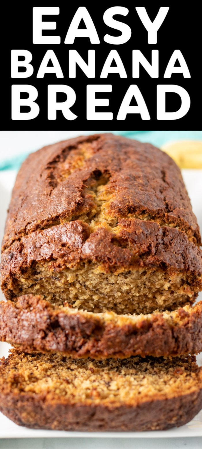 This Easy Banana Bread recipe is everything you want in a simple bread. A moist loaf made with sweet bananas, a hint of cinnamon, and loads of flavor baked to perfection in under an hour. | www.persnicketyplates.com