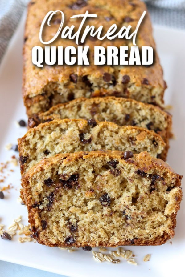 sliced oatmeal quick bread