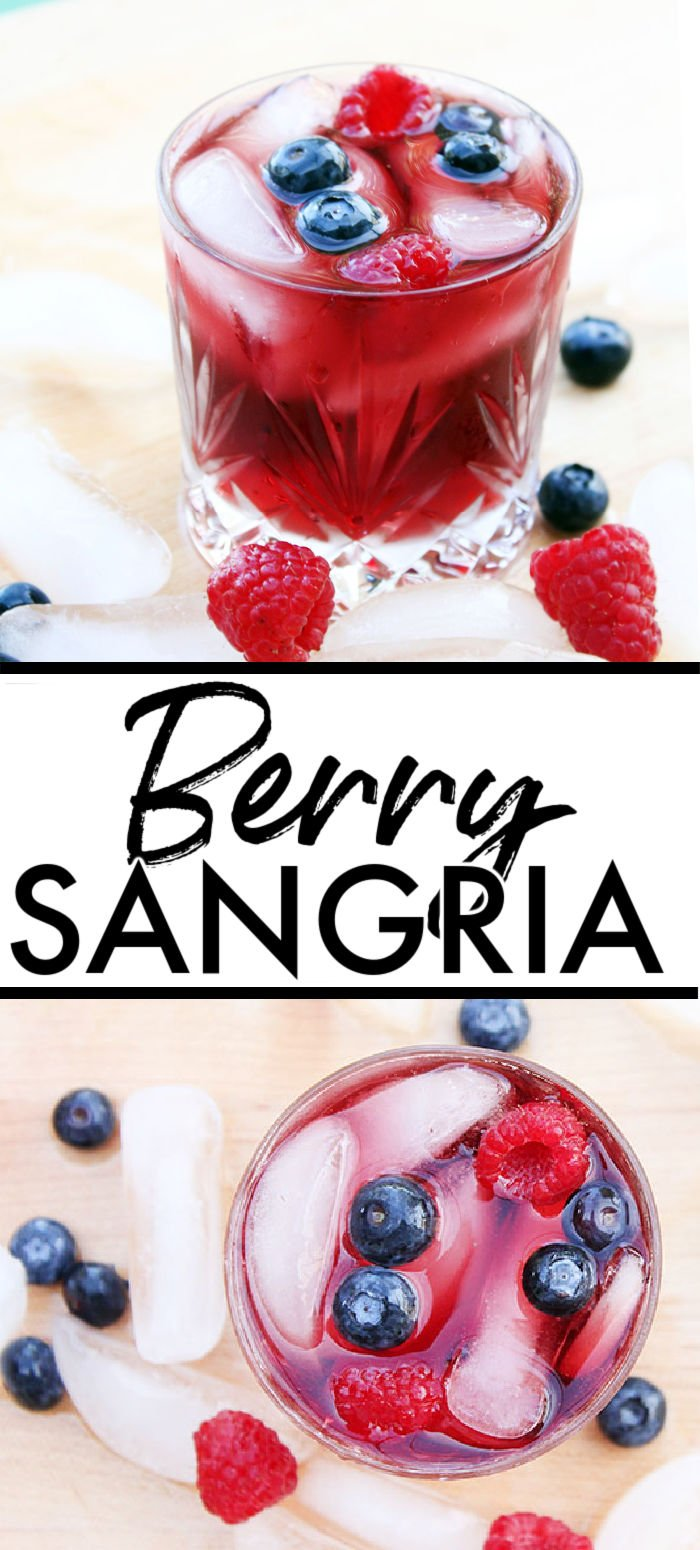 This easy Berry Sangria recipe, full of fresh berries and red wine, is the perfect summer drink. Make as a single serving or triple the recipe and make a pitcher for friends. | www.persnicketyplates.com