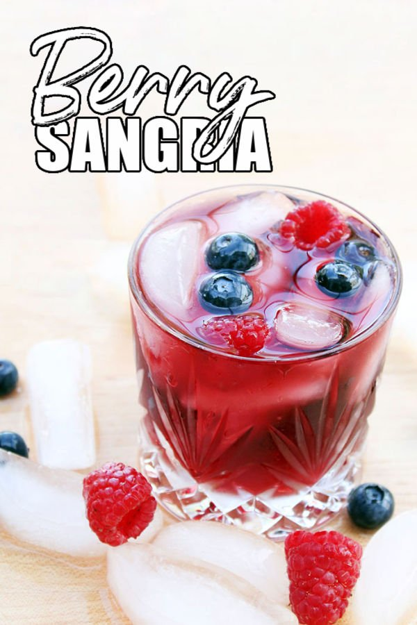 glass of sangria with title text overlay