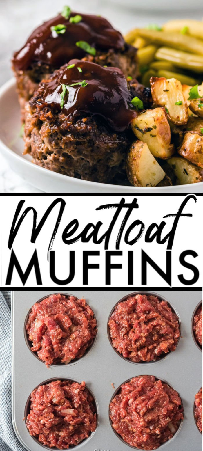 Meatloaf Muffins are a fun take on traditional meatloaf. They cook quickly, are easy to customize and serve, and they freeze really well. | www.persnicketyplates.com