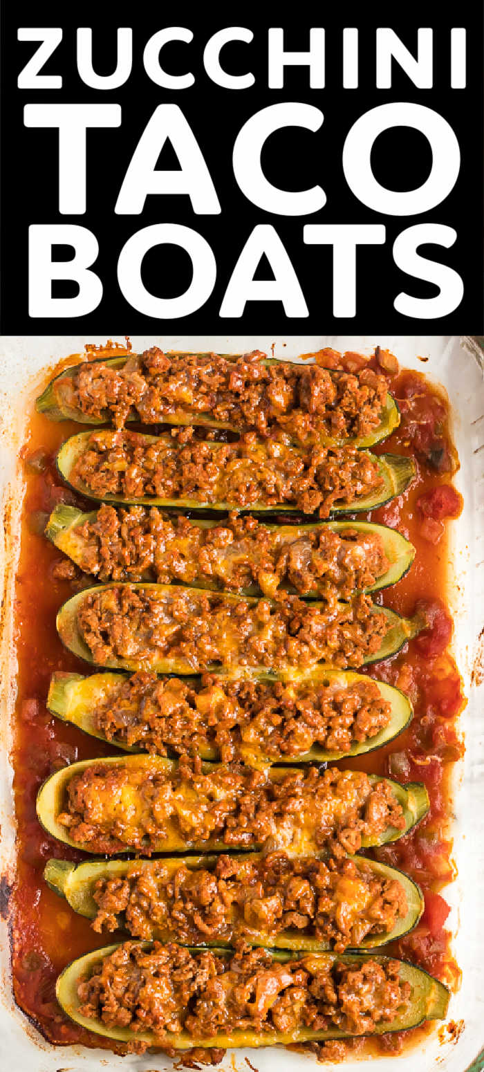 Low calorie, low carb, low fat but high flavor turkey Zucchini Taco Boats are a great meal!  Everyone will love this recipe full of flavor and tons of fiber! | www.persnicketyplates.com