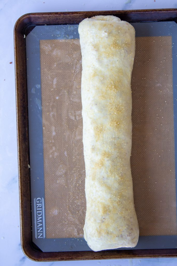 rolled apple strudel dough