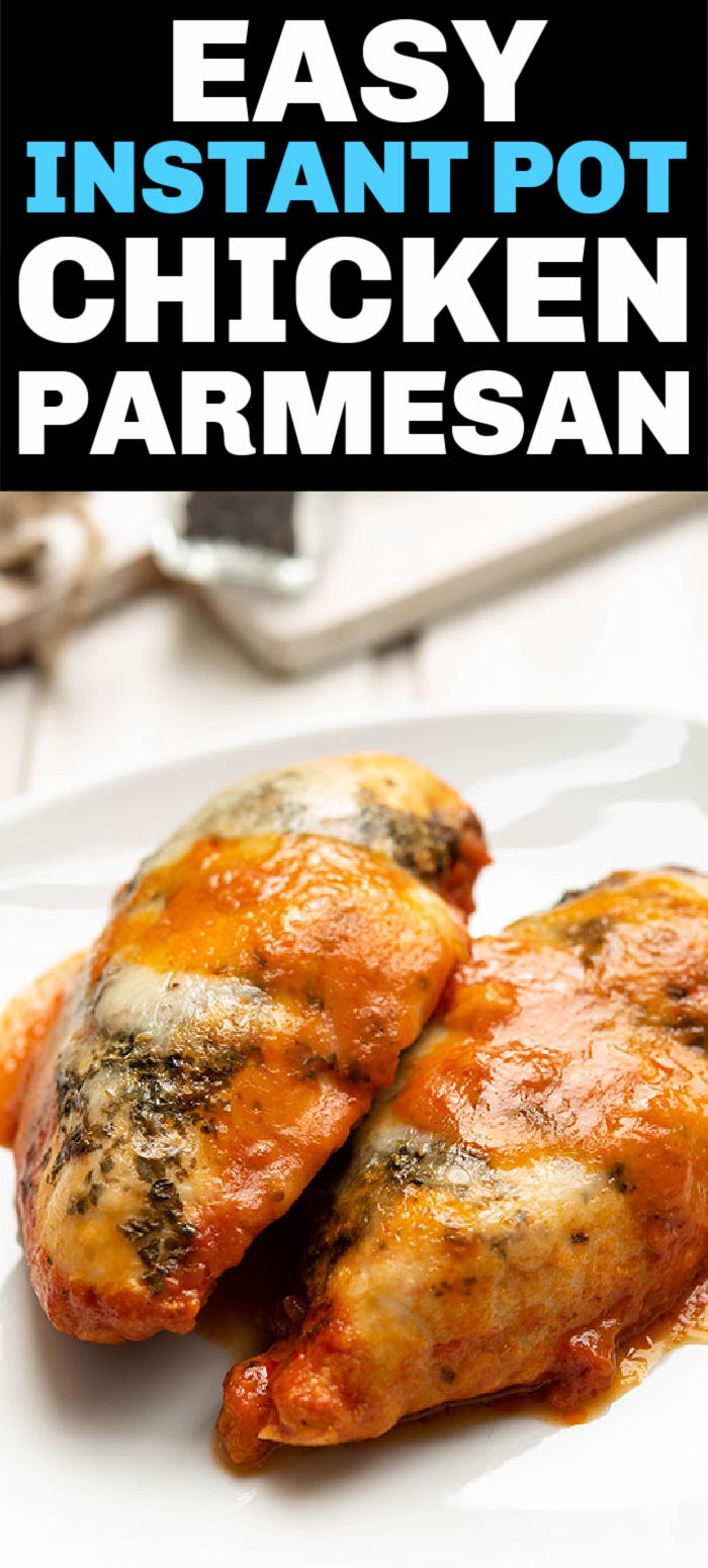 This quick and easy chicken parmesan is the answer to your busy weeknight dinner dreams. A perfectly cooked and juicy chicken dinner ready in a blink of an eye. | www.persnicketyplates.com