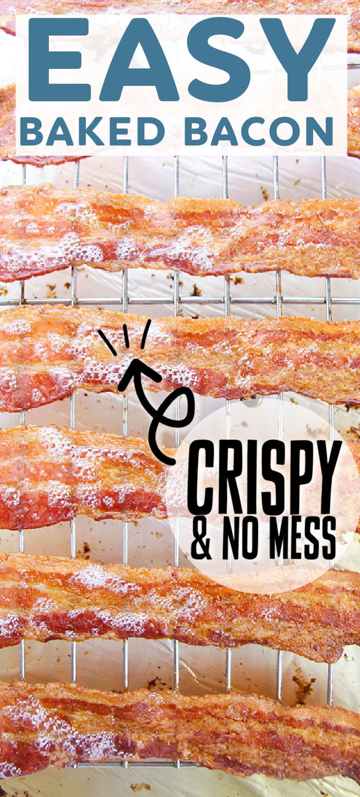 If you like crispy, perfectly cooked bacon and have never cooked it in the oven, you've been missing out! It's easy, less messy, and less hands-on than making it stovetop. Once you try it, you'll be hooked. | www.persnicketyplates.com