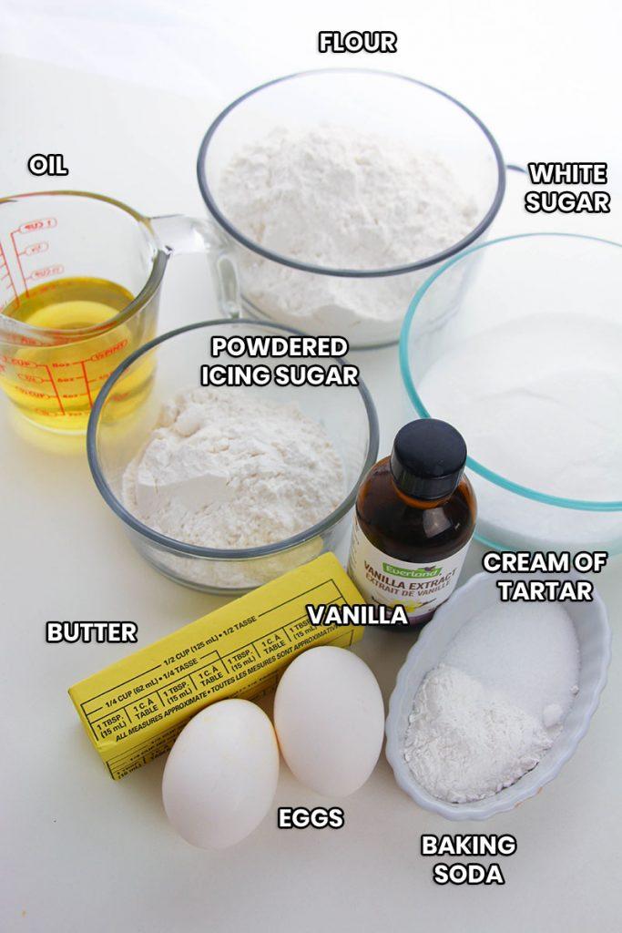 ingredients for amish sugar cookies