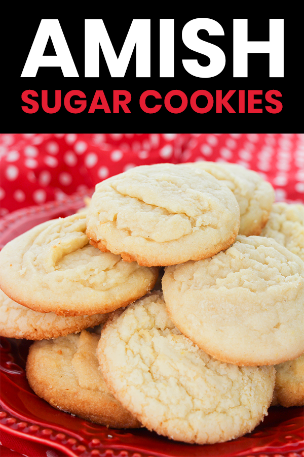 Sugar cookies without all the work! These amish sugar cookies are delicious, chewy, and easy to prepare. Perfect for your next cookie exchange! #cookierecipe #easyrecipe #holidayrecipe
