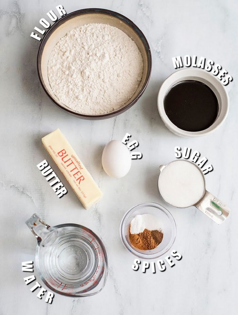 ingredients laid out to make cake