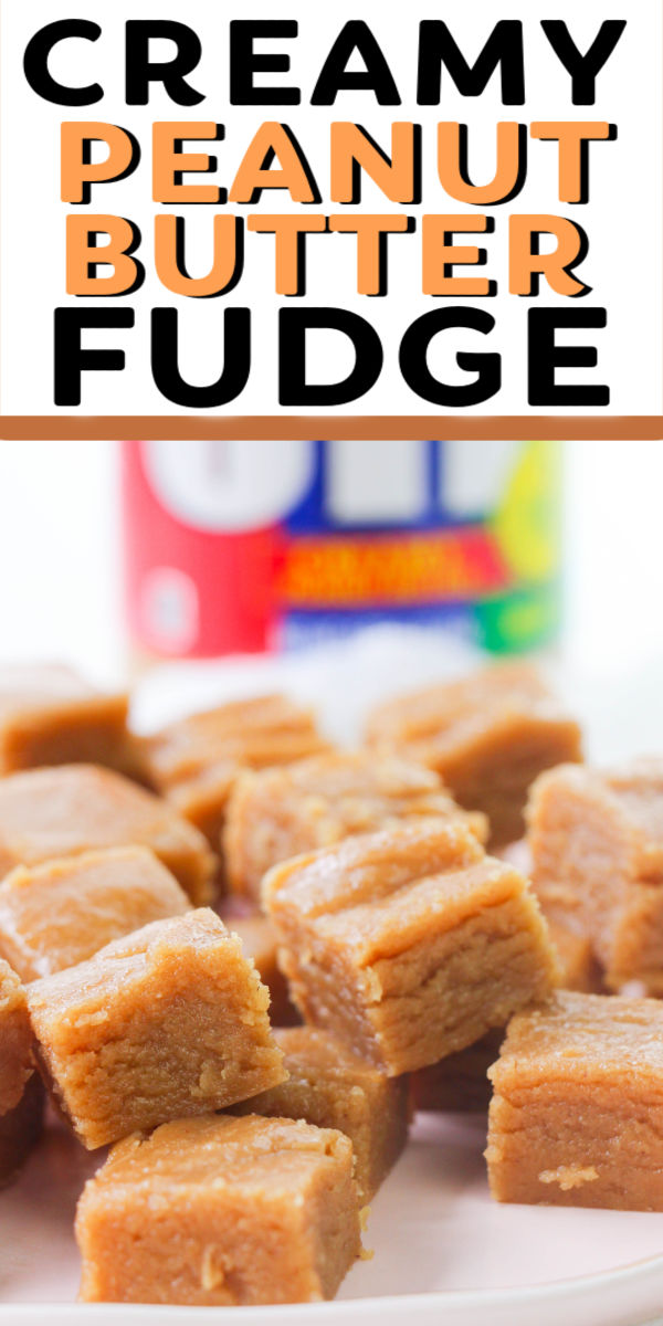 This easy, creamy Peanut Butter Fudge is the best treat. No candy thermometer required and you can make this recipe on the stove or in the microwave in no time! | www.persnicketyplates.com