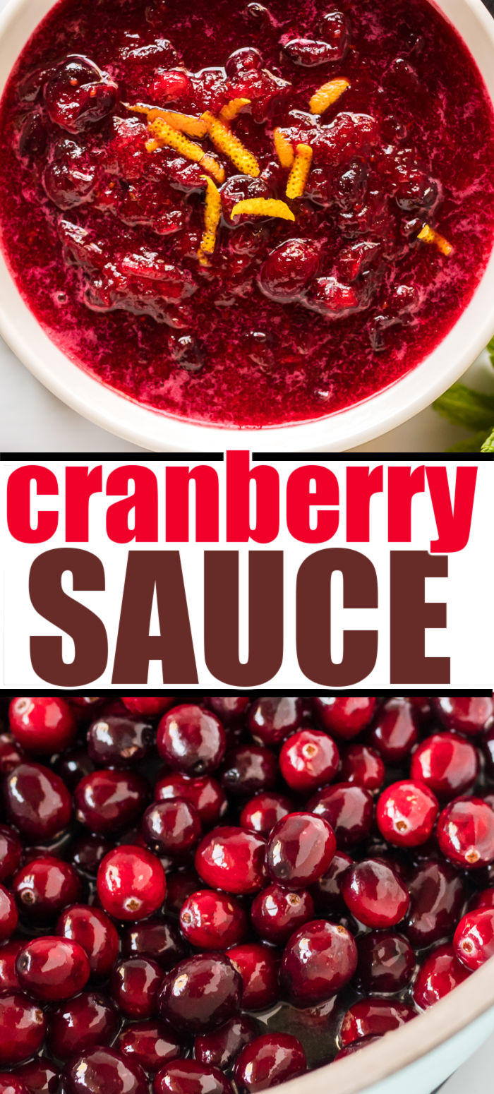 Classic cranberry sauce is a staple on any holiday table. In just 15 minutes, with a few ingredients, you'll have a side dish that is the perfect blend of sweet and tart. This recipe has a touch of cinnamon and is sweetened with orange juice - the perfect addition to Thanksgiving dinner! | www.persnicketyplates.com