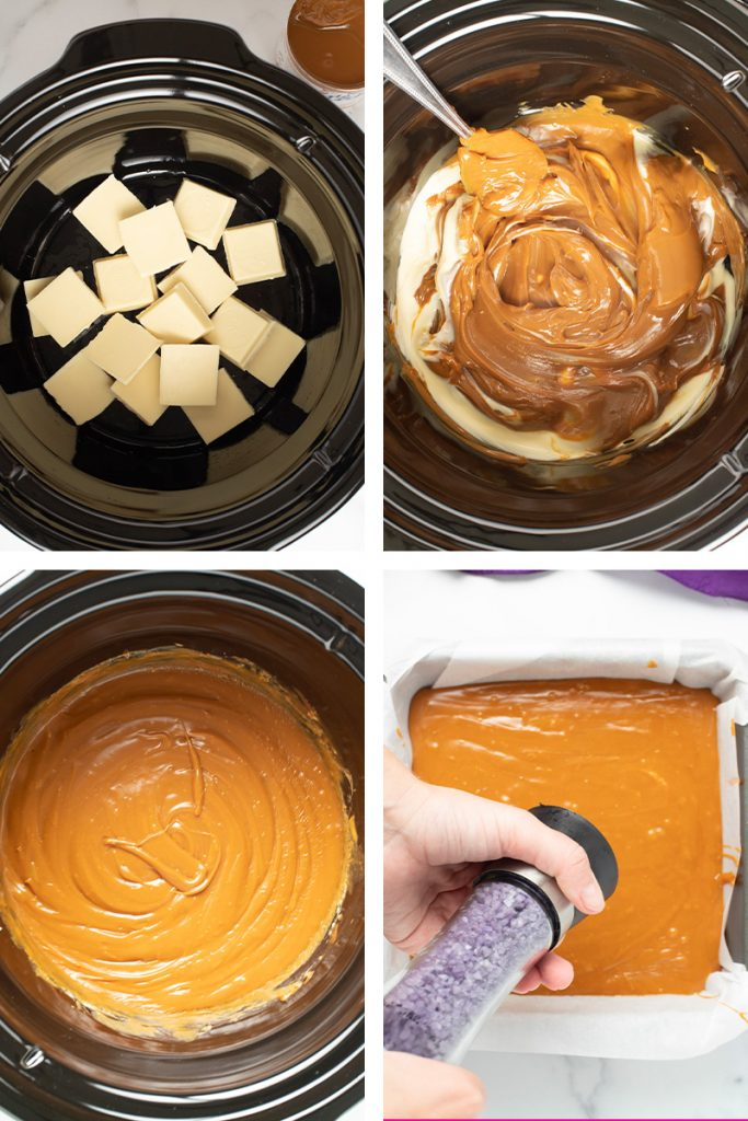 salted caramel fudge direction images
