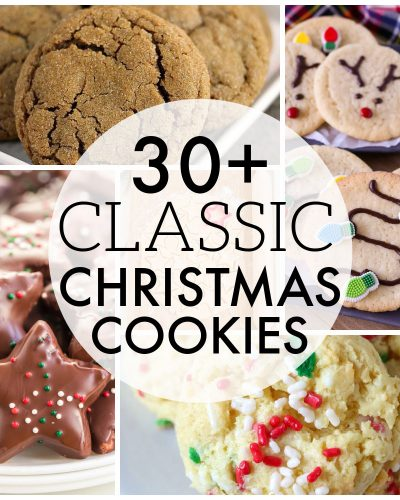 classic christmas cookie collage