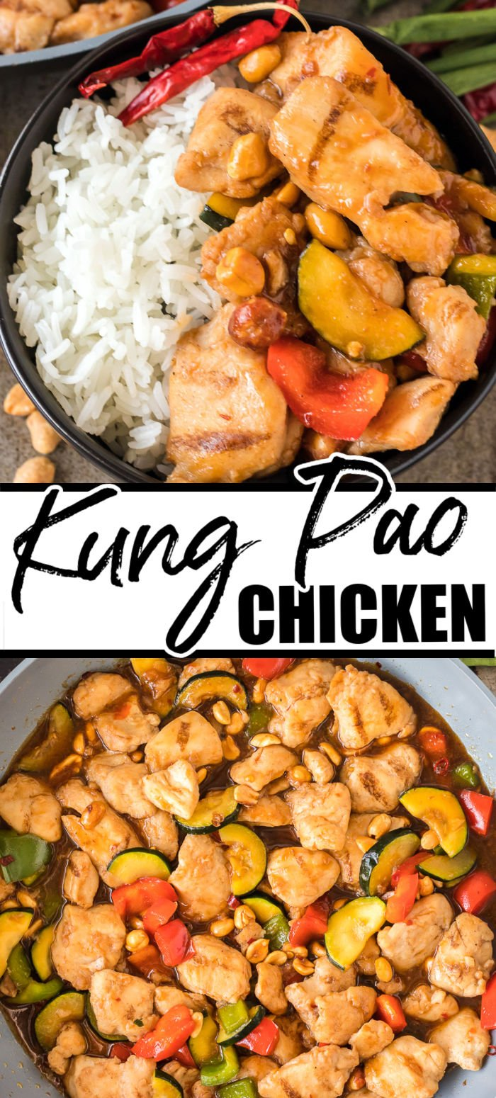 Skip takeout and make Kung Pao Chicken at home! This easy, spicy and salty dish will be ready in just 30 minutes!   www.persnicketyplates.com