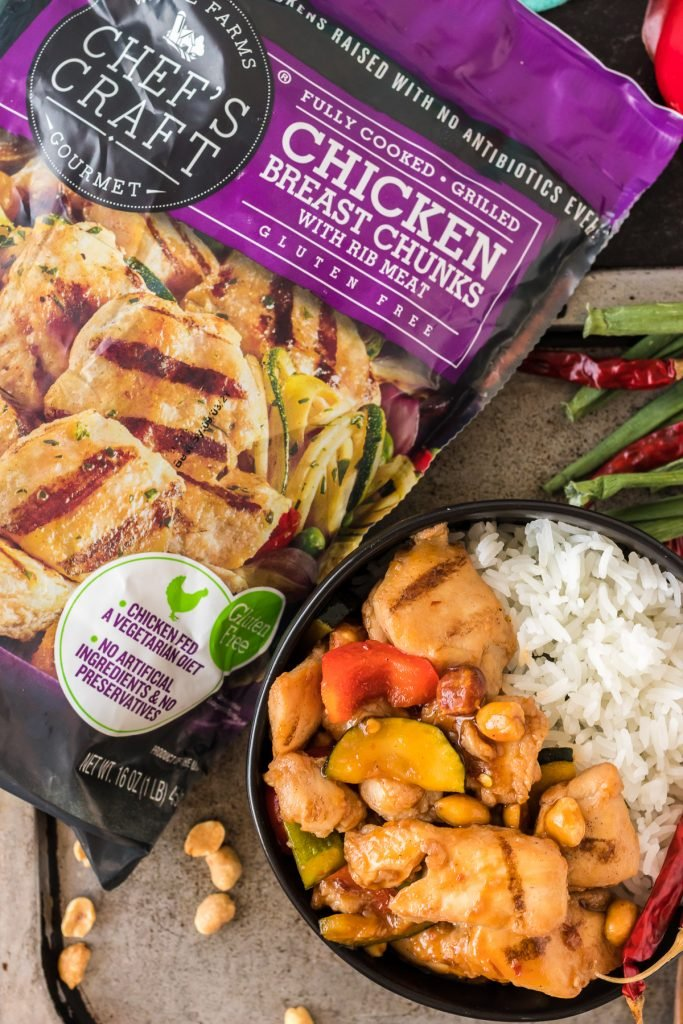 chef's choice grilled chicken chunks bag