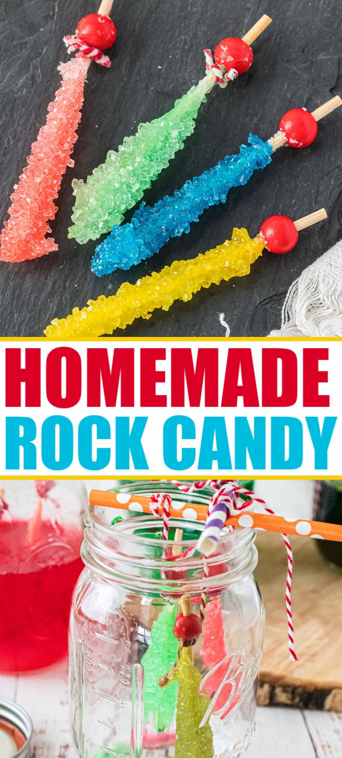 Did you ever wonder how to make rock candy? It's so easy! Homemade rock candy is not only delicious, it's also a fun science experiment! | www.persnicketyplates.com