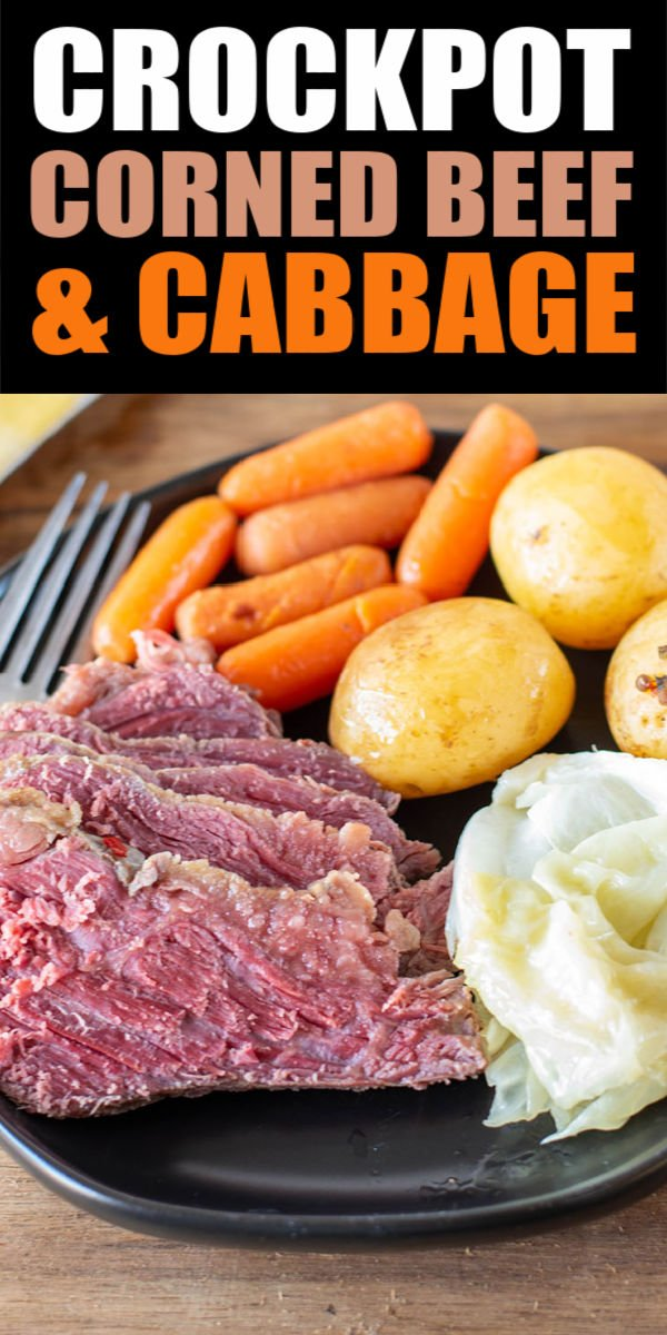 Slow Cooker Corned Beef and Potatoes is the perfect dinner for celebrating Saint Patrick's Day with a classic recipe. You slow cook corned beef, potatoes, carrots, and cabbage in your crockpot to create a tender and flavorful meal. With only five ingredients, this will be in regular dinner rotation! | www.persnicketyplates.com