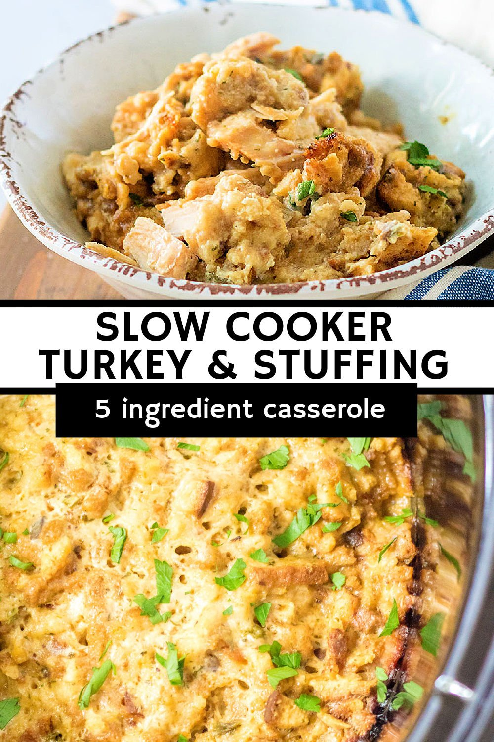Tender, juicy turkey breast slow cooked with flavor-rich herb stuffing, creamy cream of chicken soup, tangy sour cream, and hearty chicken stock makes the perfect easy weeknight dinner that is both filling and comforting. | www.persnicketyplates.com