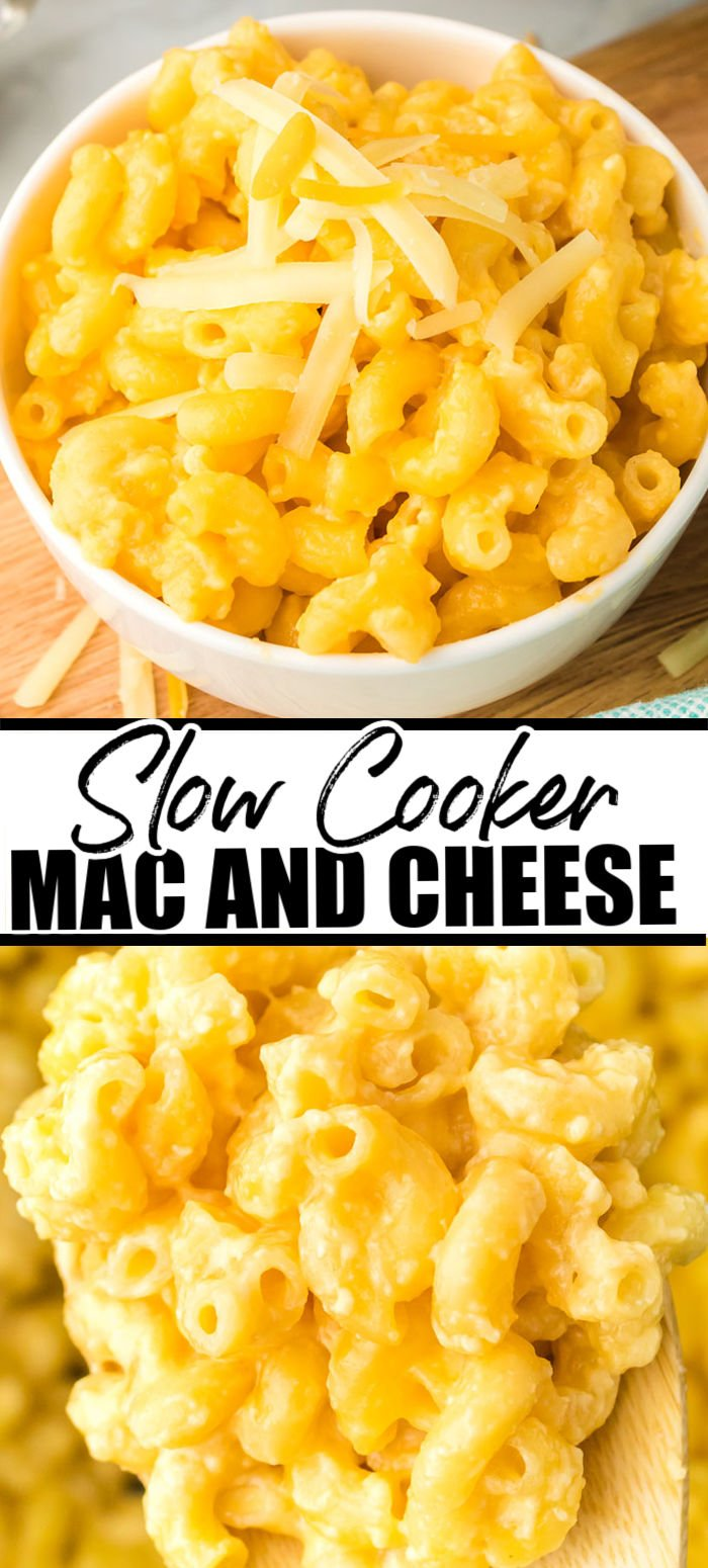 There are only 3 ingredients in this easy, no boil Mac and Cheese and it's made in the slow cooker! No butter or flour but full of creamy, cheesy flavor that only takes minutes to prep.   www.persnicketyplates.com